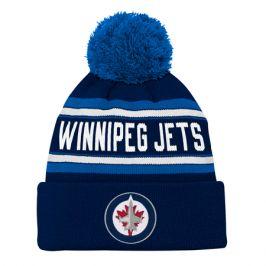 Dětská zimní čepice adidas Jacquard Cuffed Knit With Pom NHL Winnipeg Jets