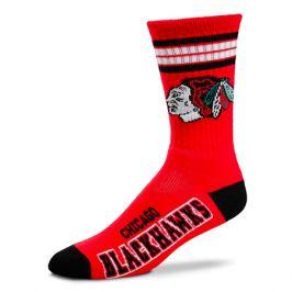 Ponožky FBF 4 Stripes Crew NHL Chicago Blackhawks