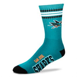 Ponožky FBF 4 Stripes Crew NHL San Jose Sharks