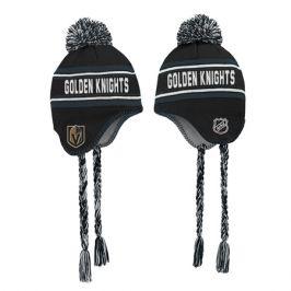 Dětská zimní čepice Outerstuff Jacquard Tassel Knit with Pom NHL Vegas Golden Knights