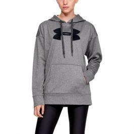 Dámská mikina Under Armour Synthetic Fleece Chenille Logo PO Hooodie šedá