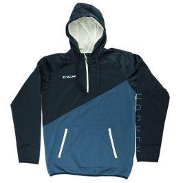 Mikina CCM Tech Fleece Hoody 1/4 Zip Dark Saphire/Ensign Blue SR