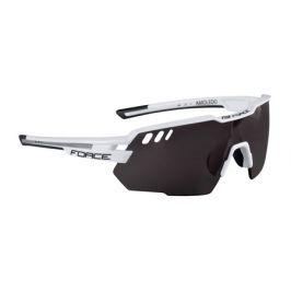 Cyklistické brýle Force AMOLEDO bílo-šedé, černá skla