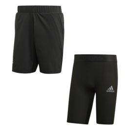 Pánské šortky adidas 2in1 Short Heat.RDY Grey