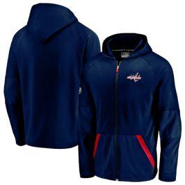 Pánská mikina na zip s kapucí Fanatics Rinkside Gridback Full-Zip Hoodie NHL Washington Capitals