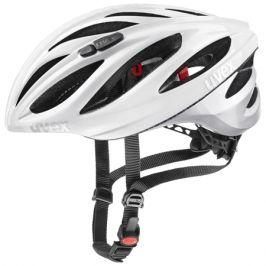 Cyklistická helma Uvex Boss Race bílo-stříbrná