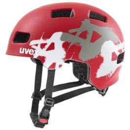 Cyklistická helma Uvex HLMT 4 CC red mat graffiti