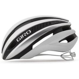 Cyklistická helma GIRO Synthe MIPS matná bílá-stříbrná