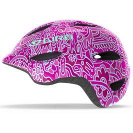 Dětská cyklistická helma GIRO Scamp růžovo-modrá
