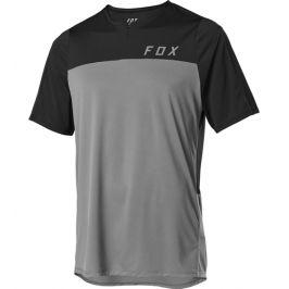 Cyklistický dres Fox Flexair Zip Jersey šedý