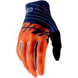 Cyklistické rukavice 100% Celium tmavě modro-oranžové