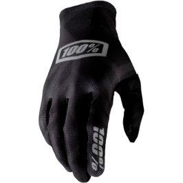 Cyklistické rukavice 100% Celium černo-stříbrné