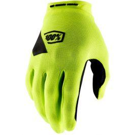 Cyklistické rukavice 100% Ridecamp reflexně žluté
