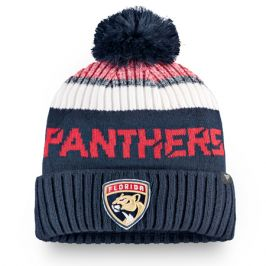 Čepice Fanatics Authentic Pro Rinkside Goalie Beanie Pom Knit NHL Florida Panthers