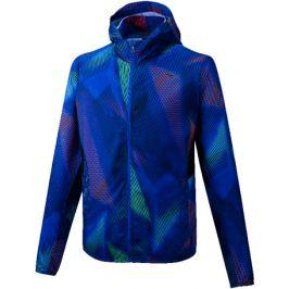 Pánská bunda Mizuno Printed Hoodie Jacket modrá