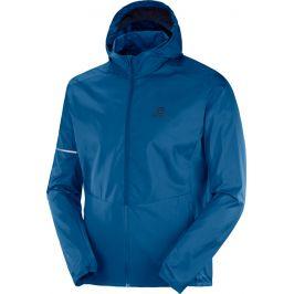 Pánská bunda Salomon Agile FZ Hoodie modrá
