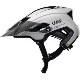 Cyklistická helma ABUS MonTrailer MIPS Polar White