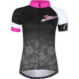 Dámský cyklistický dres s krátkým rukávem Force Rose černo-růžový