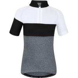 Dětský cyklistický dres Force Kid View šedo-bílo-černý