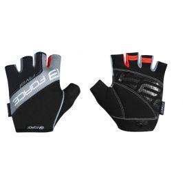 Cyklistické rukavice FORCE Rival černo-šedé