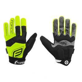 Dlouhoprsté cyklistické rukavice FORCE MTB Autonomy žluté