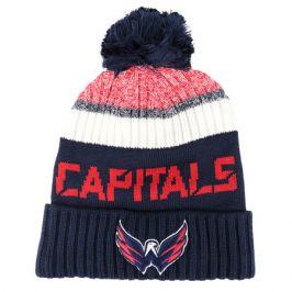 Čepice Fanatics Authentic Pro Rinkside Goalie Beanie Pom Knit NHL Washington Capitals