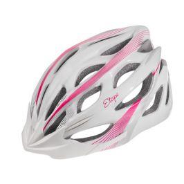 Dámská cyklistická helma VESPER bílo-růžová matná