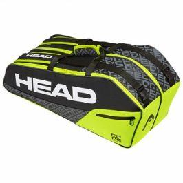 Taška na rakety Head Core 6R Combi Black/Neon Yellow