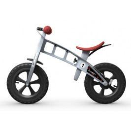 Dětské odrážedlo First Bike Cross stříbrné