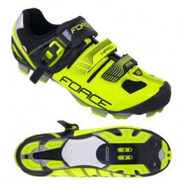 Cyklistické tretry Force MTB HARD fluo-černé