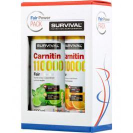 Balíček Survival pro štíhlou linii 2x Carnitin 110000 Fair Power 1 l