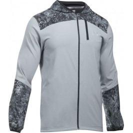 Pánská běžecká bunda Under Armour Storm Printed Jacket Steel