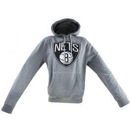 Pánská mikina s kapucí Mitchell & Ness Team Logo NBA Brooklyn Nets
