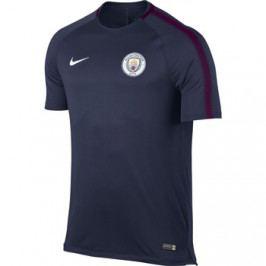 Pánské fotbalové tričko Nike Breathe Squad Manchester City FC tmavě modré