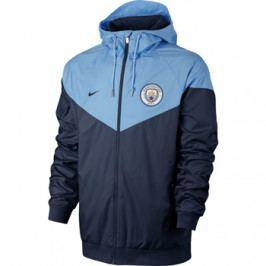 Pánská bunda Nike Authentic Windrunner Manchester City FC tmavě modro-světle modrá