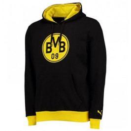Pánská mikina s kapucí Puma Badge Borussia Dortmund černo-žlutá