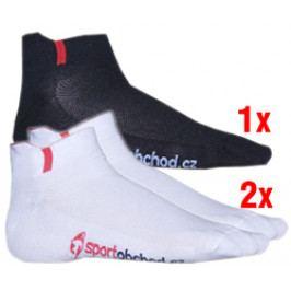 Sportovní ponožky Profivent Squash (2x bílé, 1x černé)