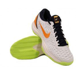 Pánská tenisová obuv Nike Zoom Cage 3 Clay White/Orange Peel