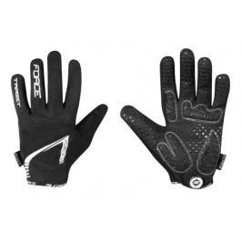 Cyklistické rukavice FORCE MTB TARGET letní, černé