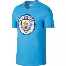 Pánské tričko Nike Evergreen Crest Manchester City FC světle modré