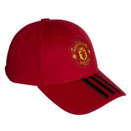 Dětská kšiltovka adidas 3-Stripes Manchester United FC červeno-černá