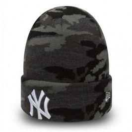Zimní čepice New Era Essential Camo Knit MLB New York Yankees Midnite Camo/White