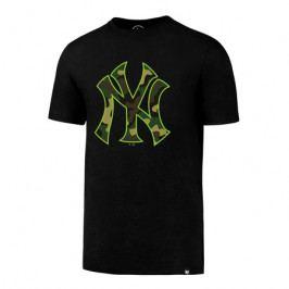 Pánské tričko 47 Brand Splitter Tee MLB New York Yankees Black/Camo/Green Neon