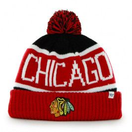 Zimní čepice 47 Brand Calgary Cuff Knit NHL Chicago Blackhawks Red
