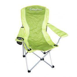 Kempingová skládací židle KING CAMP s opěrkami ocelová - zelená