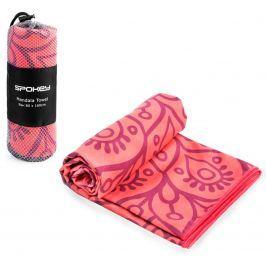 Rychleschnoucí plážový ručník SPOKEY Mandala 80x160cm - lososový