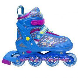 Dětské kolečkové brusle NILS Extreme NJ 4613 modré - vel. M (34-37)