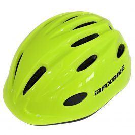 Cyklo přilba MAXBIKE Kids vel. XS-S - reflex.žlutá