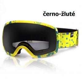 Lyžařské brýle SPOKEY Radium - černo-žluté