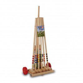 Kroket LUCIO LONDERO pro 6 hráčů na dřevěném vozíku